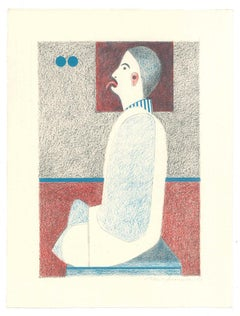 Figure - Original Lithograph by Alfonso Avanessian - 1989
