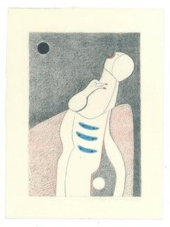 The Scream - Original Lithograph by Alfonso Avanessian - 1989