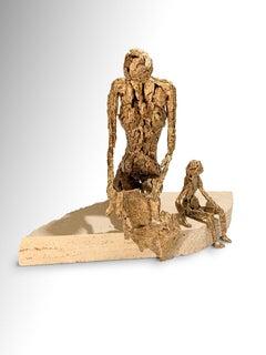 Call - Original Metallic Sculpture by Fero Carletti - 2020