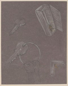 Objects - Original Peastel Drawing by Bruno Conte - 1981