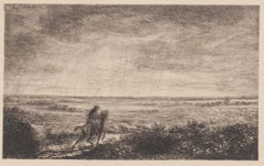 Horseman - Original Etching - 1875