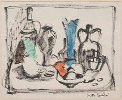 Still Life - Original Mixed Media by Virette Contù Barbieri - 1950s