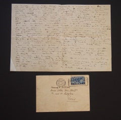 The Cometa Gallery - Letters Signed by A. Ziveri and G. Capogrossi - 1936