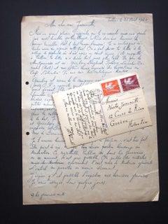 Autographs by Eduard Wiiralt to Nesto Jacometti - 1940
