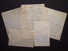 Autographs by Ossip Zadkine to Nesto Jacometti - 1950s