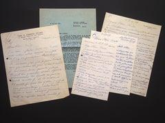 Five Autographs by Ossip Zadkine to Nesto Jacometti - 1950s