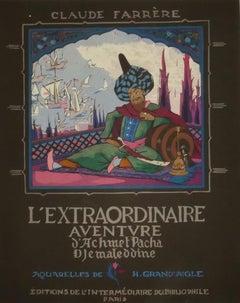 Adventure of Achmet Pacha - Original Illustrated Book - Early 20th Century