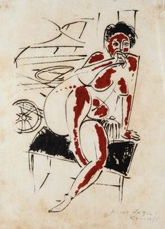 Nude - Original Lithograph by Pericle Fazzini - 1958