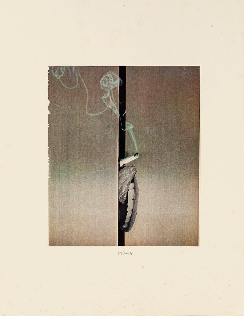Smoking - Original Collage by Sergio Barletta - 1975