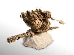 Dove - Original Metallic Sculpture by Fero Carletti -  2020