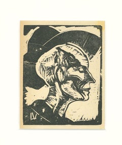 Portrait - Original Woodcut by Lorenzo Viani - 1930