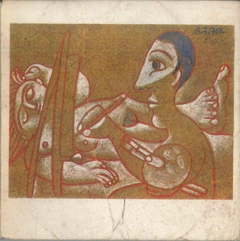 Dessins en Noir et en Couleurs - Original Catalogue by P. Picasso - 1971 - Art by Pablo Picasso