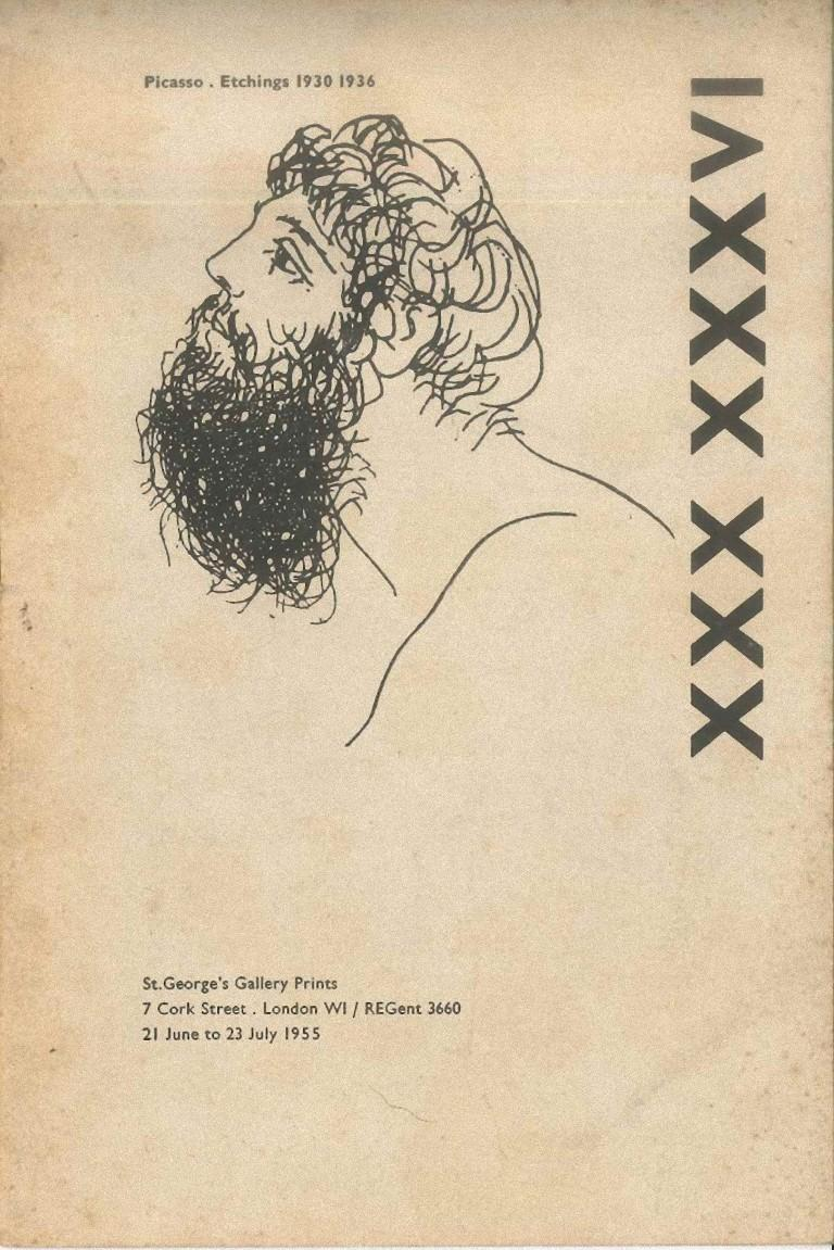 Picasso. Etchings 1930-1936 - Original Catalogue by P. Picasso - 1955 - Art by Pablo Picasso