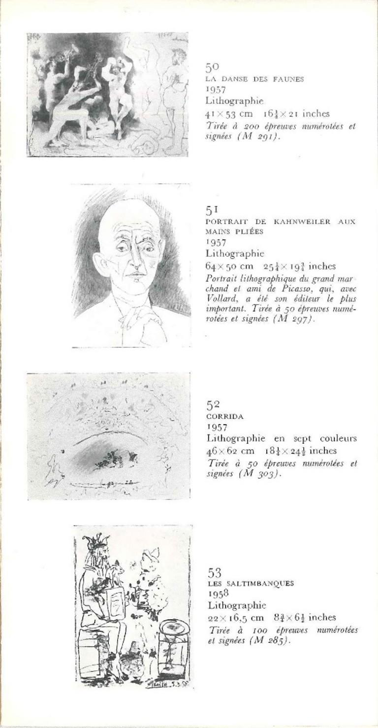 Picasso. 85 gravures - Original Catalogue by P. Picasso - 1966 - Modern Art by Pablo Picasso