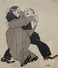 The Embrace - China Ink - Early 20th Century