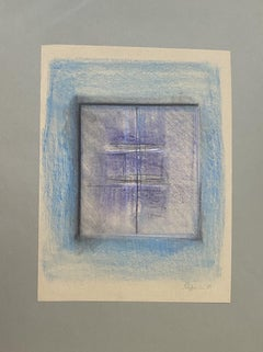 Transparencies - Original Pastel Drawing by Claudio Palmieri - 1989s