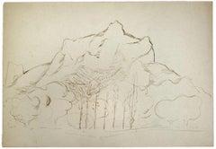 Landscape - Original Drawing in Pen by Herta Hausmann - 1950