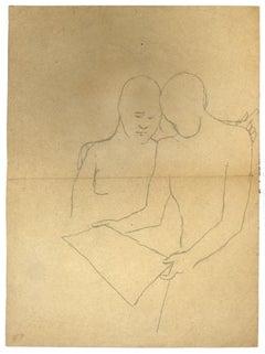 Figures - Original Pencil on Paper - 1930s