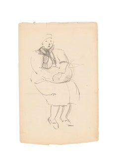 An Old Woman - Original Pencil Drawing - Early 20th Century