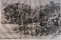 La Roxerie - Original Etching by Sir Francis Seymour Haden - 1867