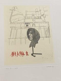 Composition - Original Etching by Giuseppe Guerreschi - 1974