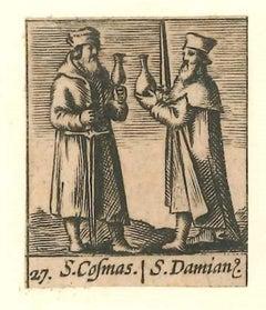 Saints Cosma et Damien - Original Etching - 1640