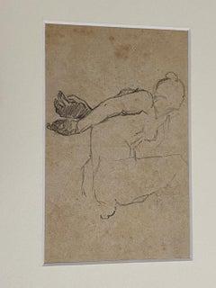 Figure  - Original Pencil Drawing by Beppe Curzi - 1940