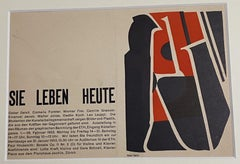 Invitation to Exhibition - Original Woodcut by Oscar Dalvit - 1953