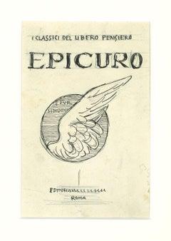 Epicuro - Original China Ink by Gabriele Galantara - Early  Century