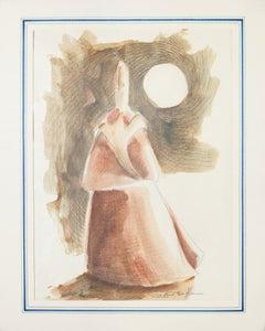 Woman Figure - Original Lithograph by Giovanni Botta - 20th Century