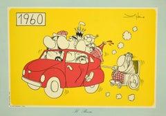 Il Boom - Vintage Offset Print by Vittorio Vighi - 1970