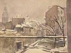 Neige sua Paris (Snow on Paris) by J. Tillied - 1960s