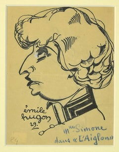 L'Ainglon - Original Pen on Paper by Emile Hugon - 1929