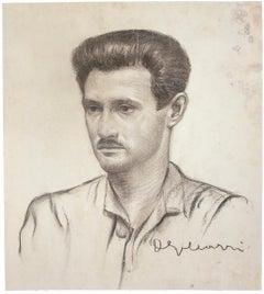 Portrait - Original Pencil On Paper  - 20th Century