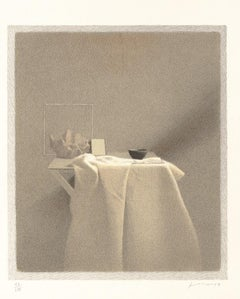 Shadow Diagonal - Original Lithograph by Gianfranco Ferroni - 1991