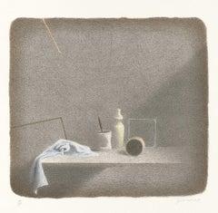 Still Life - Original Lithograph by Gianfranco Ferroni - 2001