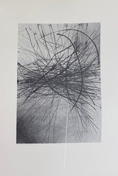 Variations in the Ether - Original Lithograph by Gianni Saccomandi - 1974