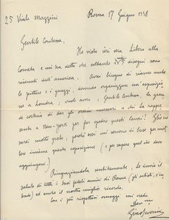 Autograph Letter Signed by Gino Severini  - 1938