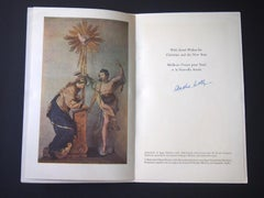 Good Wishes Leaflet - Original Greetings Card by André Lothe - 1950s