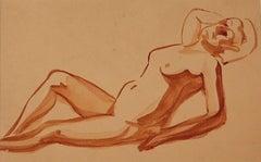Nude - Original Watercolor on Paper - 1930s