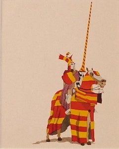 Knight - Original Pochoir on Paper - Mid-20th Century