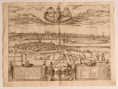 View of Maastricht, The Netherlands -by G. Braun and F. Hogenberg - 16th Century
