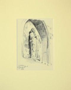 Virgin Mary - Original Pencil Drawing - 1916