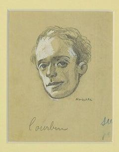 Portrait - Original Pencil Drawing on Paper - 1880s