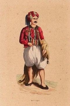 Algerian Man - Original Lithograph - 19th Century