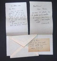 3 Autographs by Giovanni Omiccioli to Silvio Perina - 1953