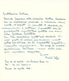 Original Manuscripts by Mario Tozzi - 1930s