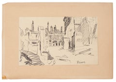 View of Reims - Original Lithograph on Paper - 1940 ca.