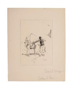 Water Carrier - Original Pen on Paper - Early 20th Century
