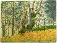 Landscape - Original Watercolor on Paper - 1940